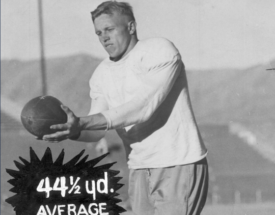 All-American running back Fred Wendt, who set UTEP records with 326 rushing yards and six rushing touchdowns against New Mexico State on Nov. 25, 1948, died May 18, just two months shy of his 96th birthday.