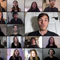 """A screenshot of a virtual performance shows some of the 200 singers performing """"You Are My Refuge."""""""