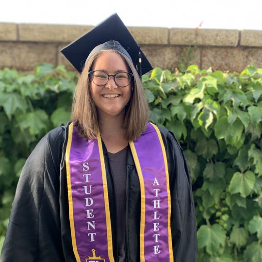 Cal Lutheran University graduate Jessi Van der Laan stayed on campus in Thousand Oaks for the final two months of her last undergraduate semester, despite the coronavirus pandemic.