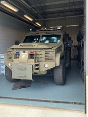 Delaware State Police released images of its BearCat Armored Vehicle damaged during a firefight with 29-year-old Sheldon C. Francis. who was ultimately killed by police in the exchange of gunfire.