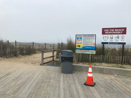 New signage greets visitors at Rehoboth Beach for the start of Memorial Day weekend and open beaches.