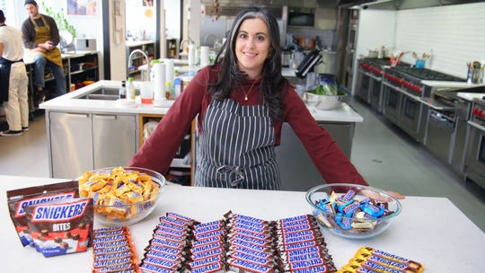 """Claire Saffitz in an episode of """"Gourmet Makes"""" from Bon Appetit's YouTube channel."""