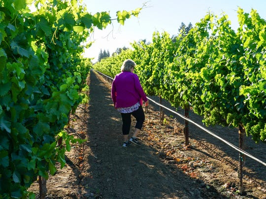 Susan Tipton, owner and winemaker of  Acquiesce Winery in Acampo, California