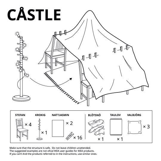 "IKEA ""fort instructions."""
