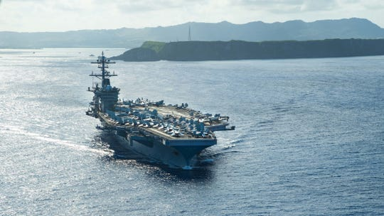 The USS Theodore Roosevelt operates in the Philippine Sea May 21. The ship will come to Bremerton in 2021 for an overhaul.