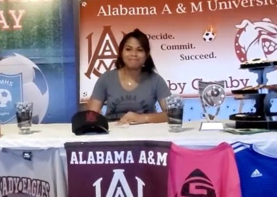 Veterans Memorial's Gabby Cumby signed to play Division I women's college soccer at Alabama A&M.
