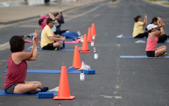 The City of Corpus Christi closes a portion of Ocean Drive to promote social distancing while exercising, Saturday, May 23, 2020. The city is planning to continue with the fitness lane next Saturday.