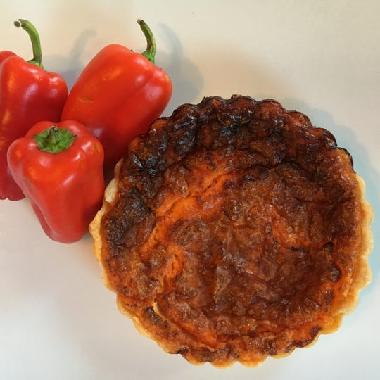 Red Pepper Quiche is a great start to the day at Jersey Java and Tea in Haddonfield.