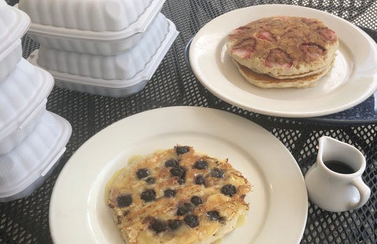 It's hard to beat the fruit-filled pancakes at blueplate in Mullica Hill.