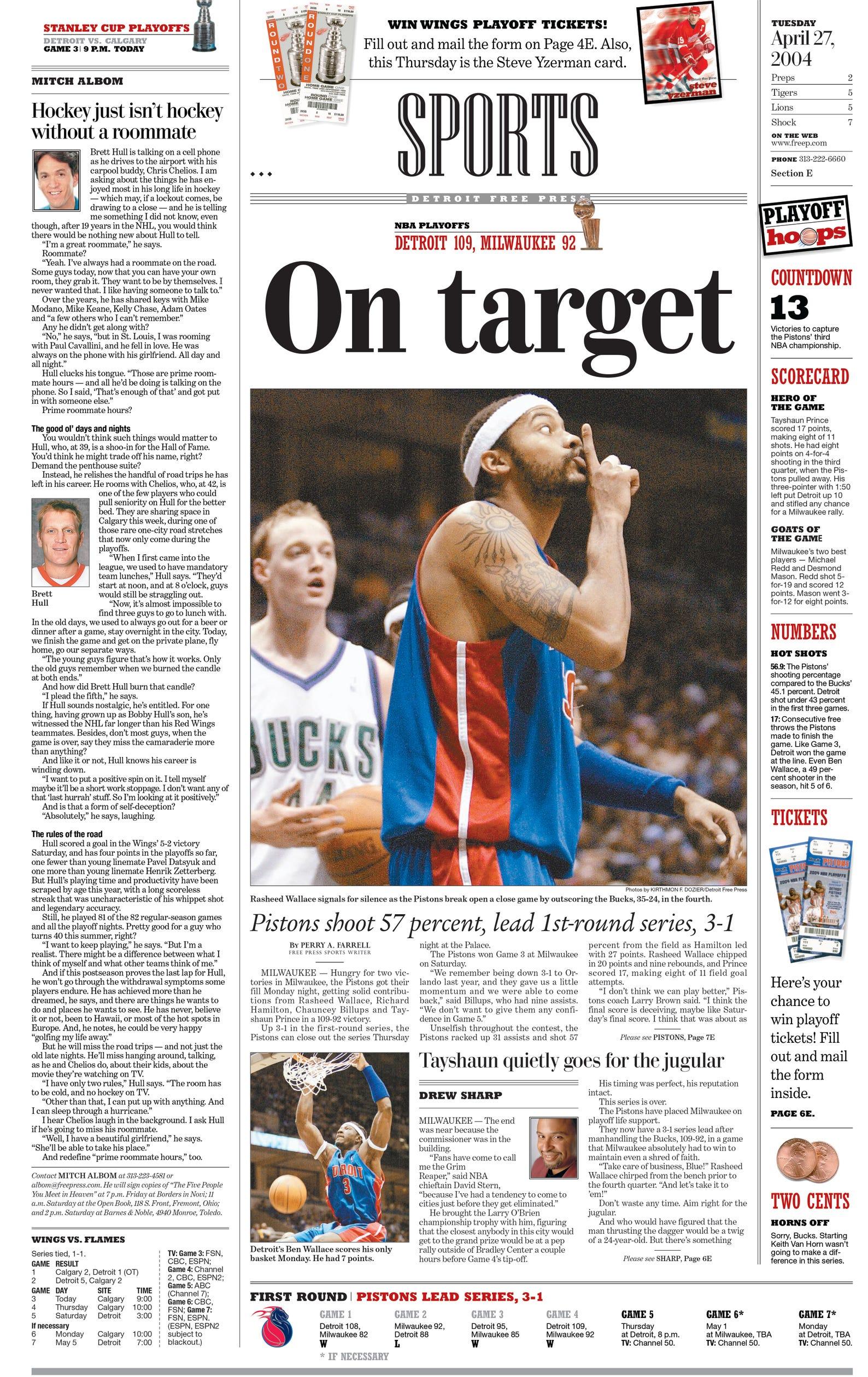 Free Press Headlines Chronicle Detroit Pistons 2004 Nba Title Run