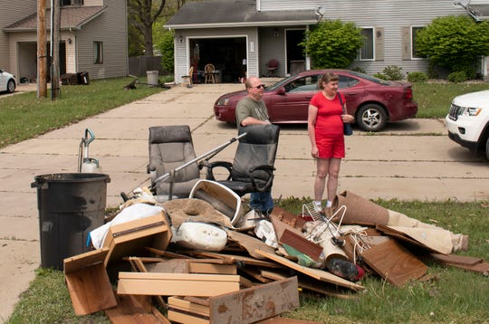 David and Brenda McRoberts of Midland returned to their home on May 22, 2020 to empty contents ruined by the floods. They say they have no idea how they'll recover financially.