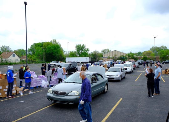 The Islamic Center of America in Dearborn hosted a food giveaway and Eid celebration this weekend.