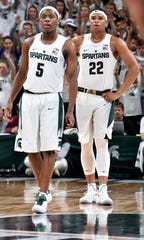 Cassius WInston and Miles Bridges were teammates for two seasons.