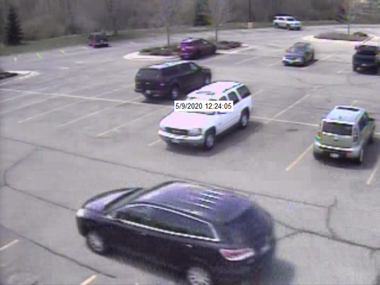 Police are looking for a man who used fake $100 bills at the Bellevue Walmart on May 9. The Brown County Sheriff's Office released this photo of the suspect's car.