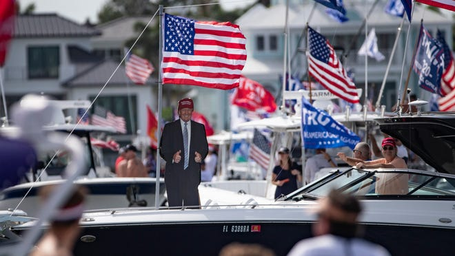 Flotillas In Honor Of Trump And Biden Labor Day Weekend In Southwest Florida