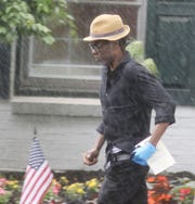 Chris Rock exits the Vander Platt - Caggiano Funeral Home in Fair Lawn after he and others said good bye to music executive Andre Harrell. After a service at the funeral home Harrell was interred at George Washington Cemetery in Paramus.