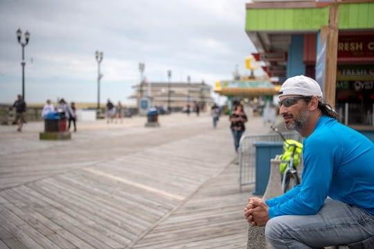 Anthony Stefaneli, of Toms River, at the Seaside Heights boardwalk on Saturday, May 23, 2020.