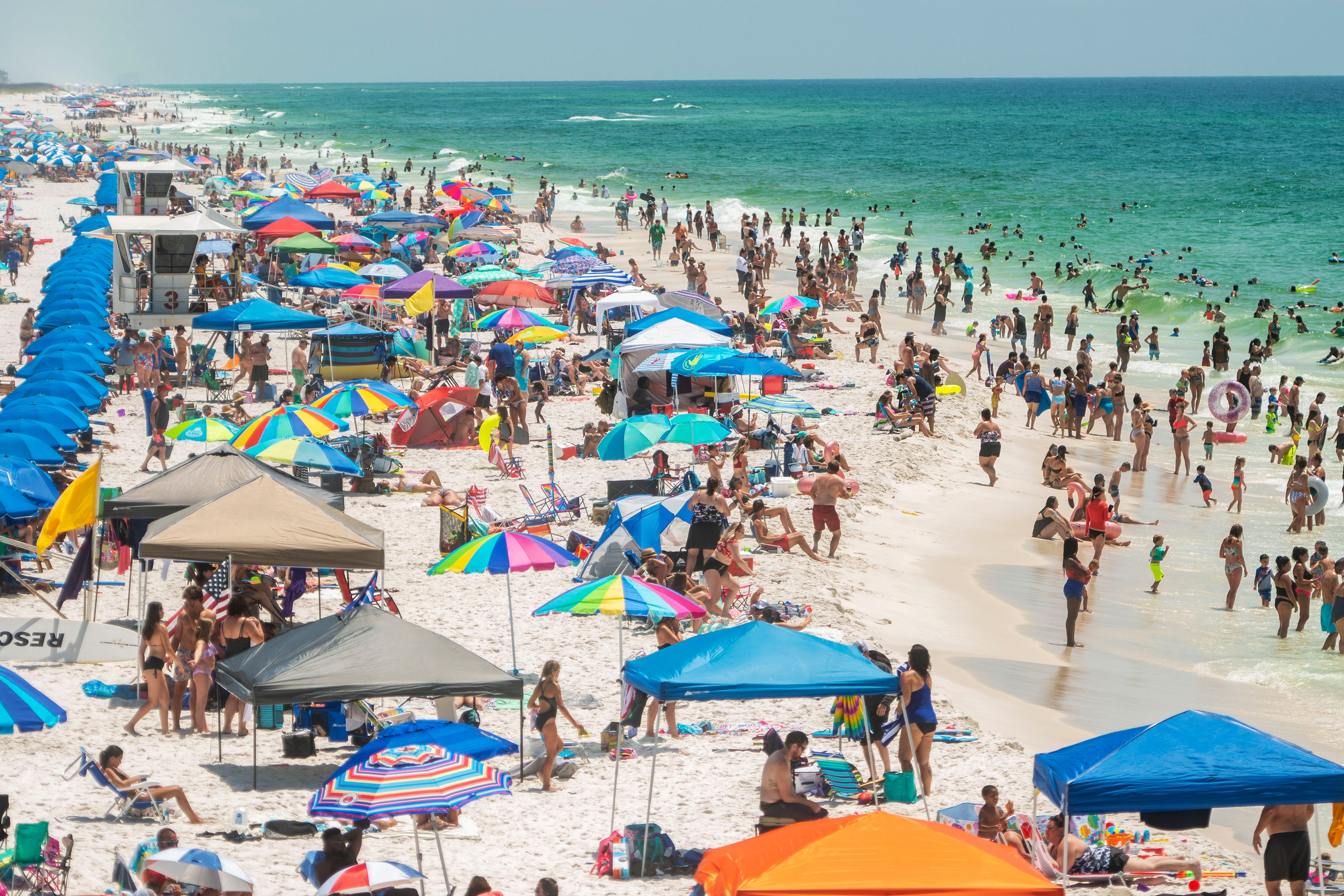 Pensacola Beach Saw Its Busiest
