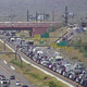 Traffic heading north on Interstate 17 for the holiday weekend starts to back up early afternoon on May 22, 2020.