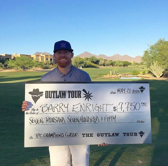 Former MLB pitcher Barry Enright beat pros at the Outlaw Tour's TPC Champions Classic