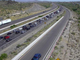 A stretch of the northbound Interstate 17 was backed up by about 15 miles as holiday travelers hit the road, the Arizona Department of Transportation said. The backup stretched from Anthem to Black Canyon City as of about 10 a.m. on May 23, 2020.