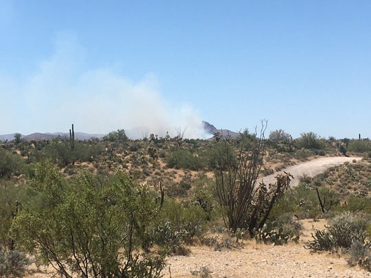 A 150-acre wildfire started burning 13 miles northeast of Florence in Pinal County about 10 a.m. on May 23, 2020. Forward progress of the fire stopped about 3 p.m., according to the Bureau of Land Management Arizona Fire Twitter.