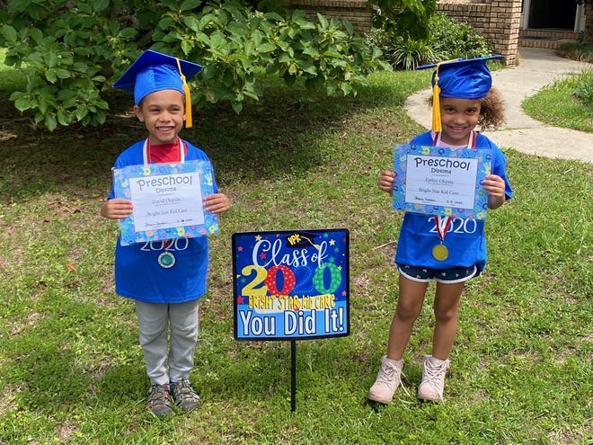 Bright Star Kid Care took photos and videos of its 11 VPK graduates in lieu of traditional celebration this year.