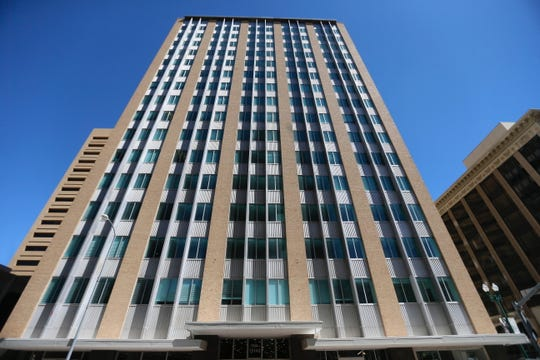 Construction of 120 low-income apartments in the 18-story Blue Flame Building in Downtown El Paso has been completed, and many residents already have moved into the former office tower, officials announced Thursday. The renovation also has created office and retail spaces. The exterior of the building is shown Friday, May 22, 2020.
