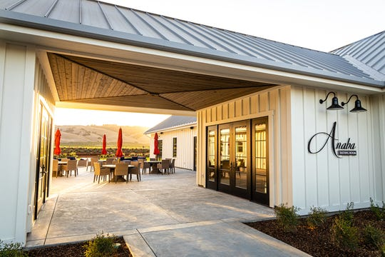 Exterior of Anaba Wines tasting room.