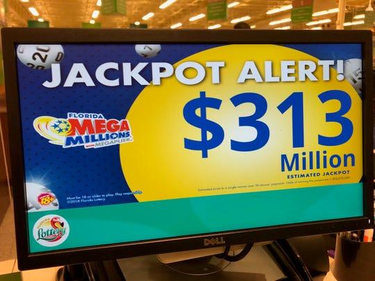 Jackpot Mega Millions telah naik menjadi sekitar $ 313 juta untuk penarikan Selasa malam, 26 Mei.