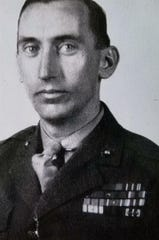 James Herrmann, the maternal grandfather of Lions coach Matt Patricia, served in the Marine Corps during World War II
