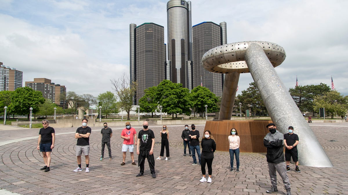 Movement fest 2020: Fans and staff gather at a quiet Hart Plaza