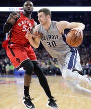 Jon Leuer spent three seasons with the Pistons.