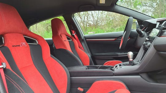 Standard on the 2020 Honda Civic Type R: bolstered red seats.