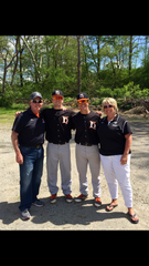Al Manner, second from left, played baseball at Bellevue and Heidelberg with older brother, Adam. They're joined by dad, Craig, and mom, Ann.