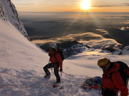 Crews rescueda climber who got lost and one who became injured during a small avalanche on Mt. Hood over Memorial Day weekend. Around 60 rescuers responded to the two emergency callsover the course of 23 hours.