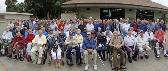 Jerry Spector, an Air Force veteran, took this photograph on June 7, 2017 of 104 veterans, all residents of Camarillo's Leisure village.