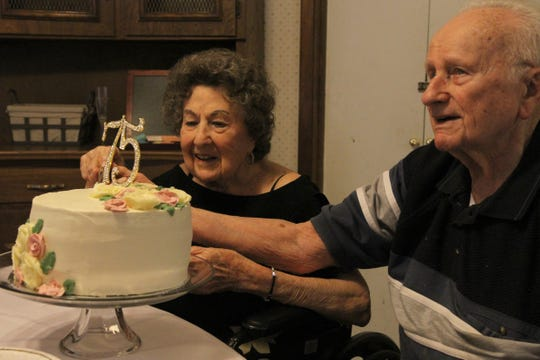 Eugene and Mary Szczepinski celebrated their 75th wedding anniversary Saturday, May 23, 2020, with their family. They were married May 22, 1945, in San Antonio.