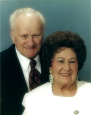 Eugene and Mary Szczepinski in a portrait taken March 2015. The pair celebrated their 75th wedding anniversary Saturday, May 23, 2020, with their family. They were married May 22, 1945, in San Antonio.