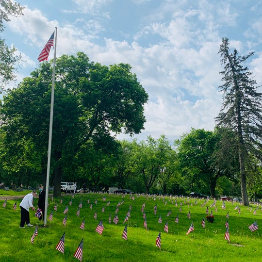 A small Memorial Day celebration was held at the Calvary Cemetery in Johnson City Monday, May 25, 2020, to honor the fallen.