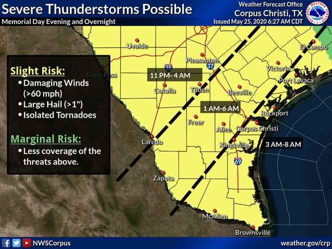 Following Sunday night's thunderstorms, Mother Nature planned a repeat performance for Corpus Christi on Monday night, with rain continuing into the week
