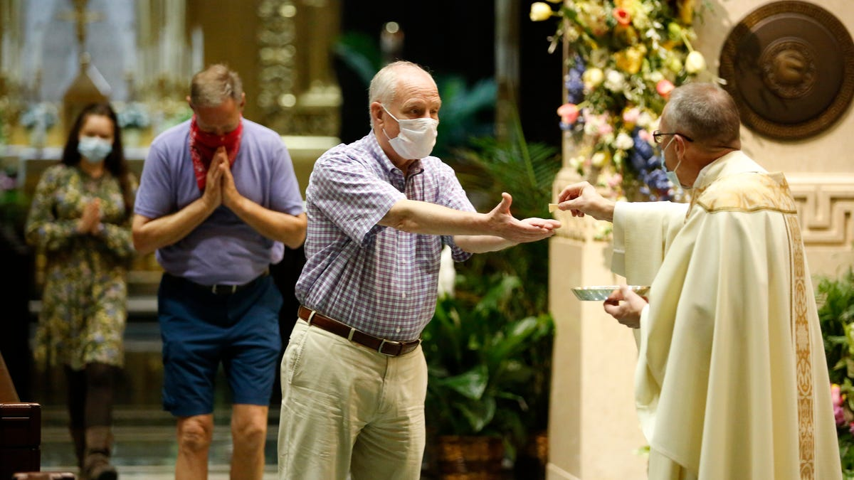 Photos: Church reopens at Cathedral of St. Peter in Chains in downtown Cincinnati