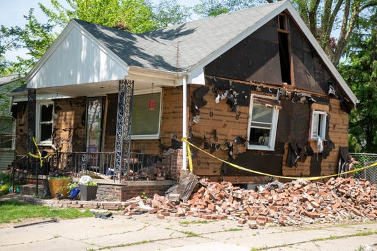 This is 1365 Chapin, in Birmingham, May 25, 2020.  The house was the scene of an explosion the morning of Memorial Day.