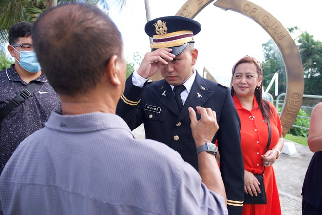 Army 2nd Lt. Shawn Balinas was commissioned as an officer through the University of Guam's ROTC program during a private family ceremony on May 23., 2020.