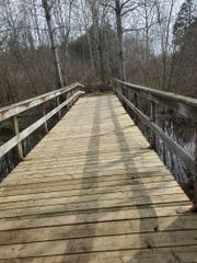 Mishicot Sportsman's Club finished work on a new bridge recently, to make it ADA compliant.