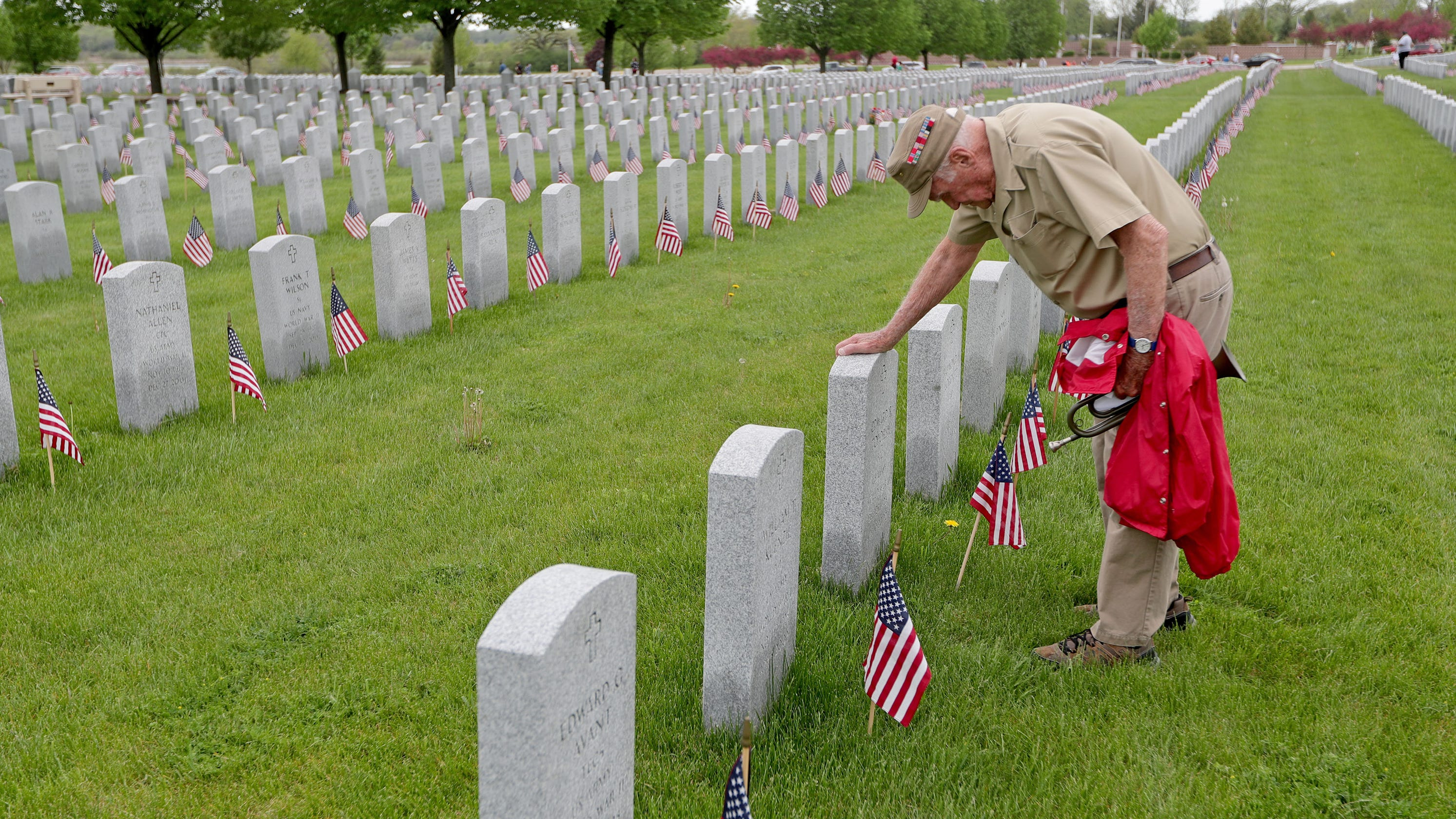 No official ceremony, but lots of intimate Memorial Day ceremonies at Union Grove cemetery