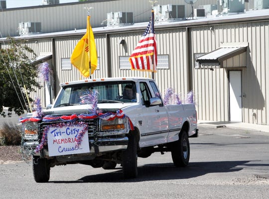 Cindy Iacovetto drives during the Tri-City Memorial Cruise.