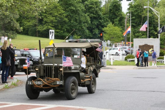 A convoy of veterans, first responders and local officials departed from Dutchess County War Memorial in the Town of Poughkeepsie on Memorial Day, May 25, 2020.