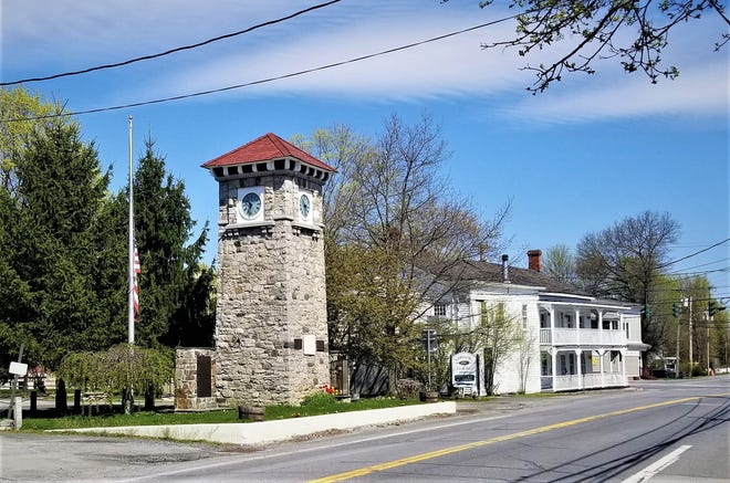 The Wilber Memorial Clock Tower, which was erected in 1920 along South Main Street (Route 82) in Pine Plains honors local physician Henry Clay Wilber, who cared for the community for 50 years. It sits just south of the historic Stissing House.