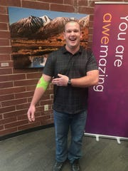 Austin Meegan received a convalescent plasma donation from Thomas Gibson (shown here), a Texas resident with his same blood type who recovered from the virus a few months back.